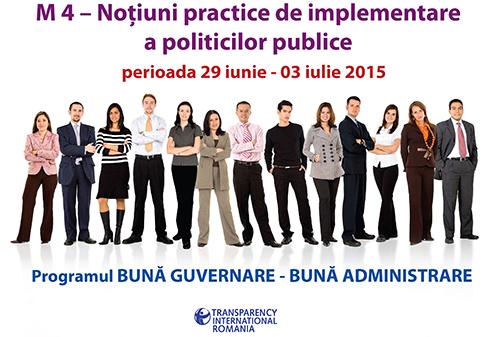 Modulul IV - Noțiuni practice de implementare a politicilor publice