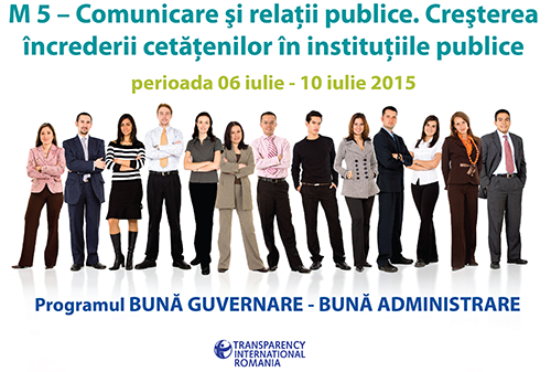 Modulul V - Comunicare și relaţii publice. Creșterea încrederii cetățenilor în instituțiile publice