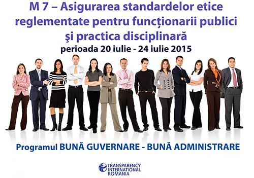 Modulul VII - Asigurarea standardelor etice reglementate pentru funcționarii publici și practica disciplinară