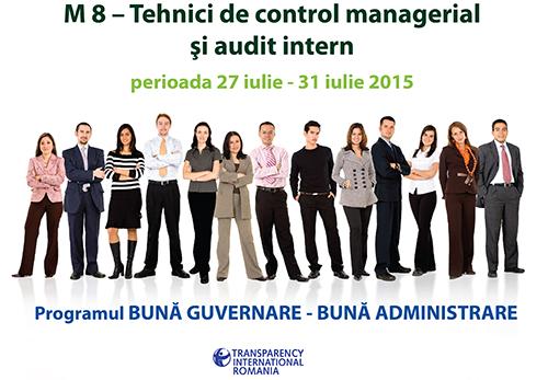 Modulul VIII - Tehnici de control managerial şi audit intern